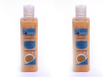 Abeers Khadi Vitivera Shampoo For Normal Hair (Pack Of 2) 200 Ml Each