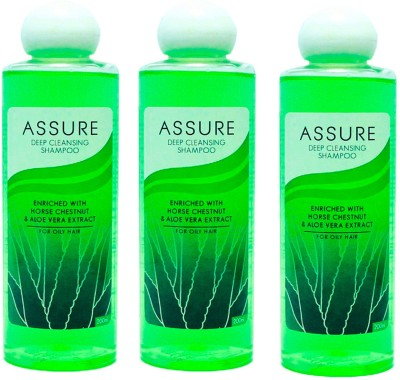 Assure Deep Cleansing Shampoo (Pack of 3)
