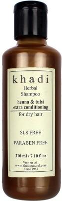 Khadi Herbal Henna and Tulsi Extra Conditioning SLS and Parabens Free Shampoo