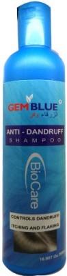 Biocare GemBlue Anti-Dandruff Shampoo - Controls Dandruff Itching and Flaking