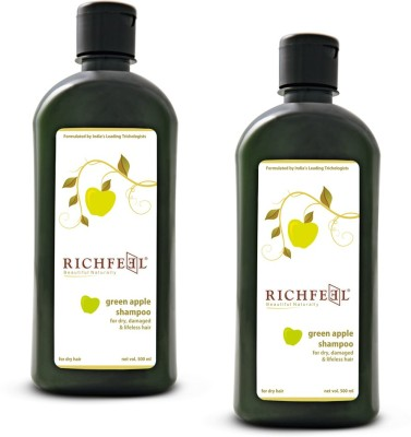Richfeel Green Apple Shampoo pack Of 2