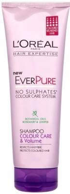L,Oreal Paris Hair Expertise ever Pure Colour care and Volume Shampoo