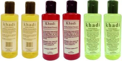 Khadi Herbal herbal shampoo pack of 6 pcs
