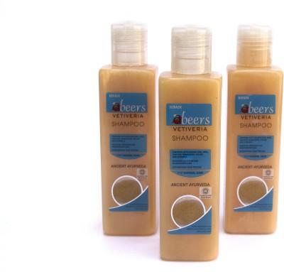 Abeers Khadi Vitivera Shampoo For Normal Hair (Pack Of 3) 200 Ml Each