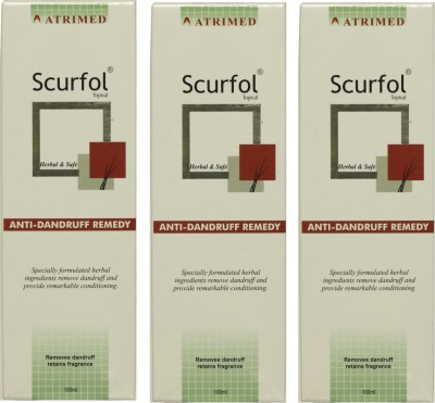 Atrimed Scurfol Anti-Dandruff Topical Pack of 3