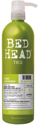 TIGI BED HEAD RE-ENERGIZE SHAMPOO URBAN ANTI-DOTES DAMAGE LEVEL 1