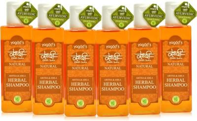 Khadi Natural Aritha & Amla shampoo [ PACK OF 6] 200 ML