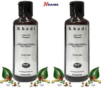 Nanson Khadi Herbal Hair Cleanser Ayurvedic Amla Shikakai Shampoo