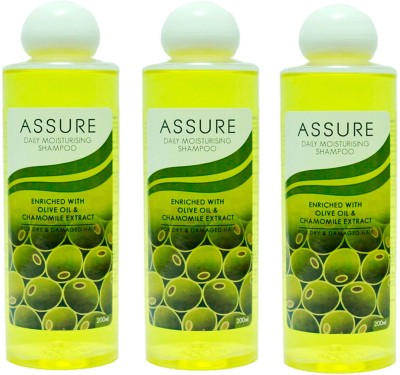 Assure Daily Moisturising Shampoo (Pack Of 3)