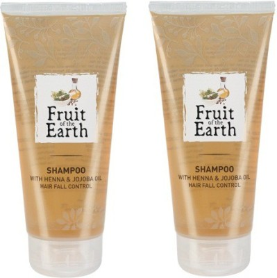 Fruit of the Earth Henna and jojoba Shampoo New Pack-Prevent Hair Fall (Pack of 2)