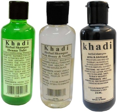 Khadi Herbal Herbal Shampoo pack 3