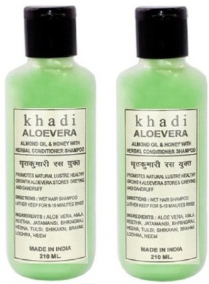 Khadi Herbal Aloevera Almond oil & Honey with conditioner- Twin Pack