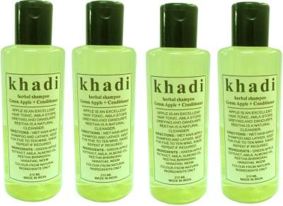 Khadi Herbal Shampoo Green Apple + Conditioner