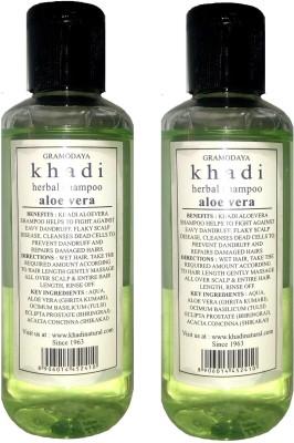 khadi Natural Herbal Shampoo Aloevera - Twin Pack