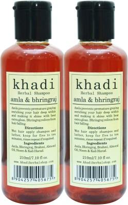 KHADI HERBALS Amla & Bhringraj Shampoo [ PACK OF 2]