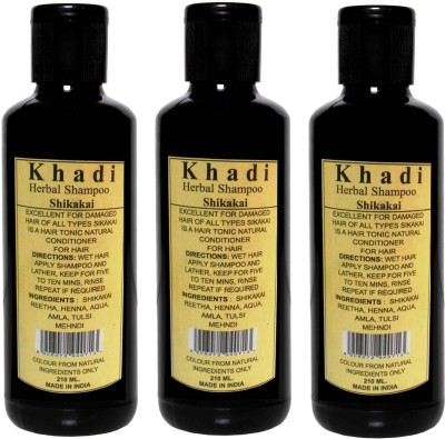Parvati Khadi Gramudyog Khadi Herbal Shikakai Shampoo Pack Of 3