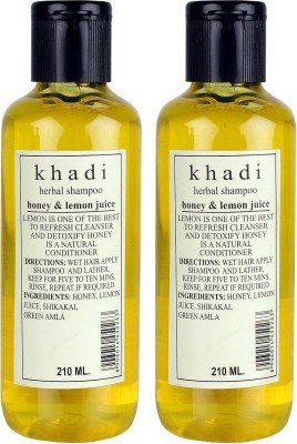 Khadi Herbal Herbal Honey & Lemon Juice Shampoo Pack of 2