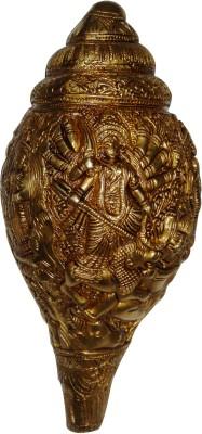 Aakrati Decorative Engraving Goddess Durga Decorative Shankh(Yellow)