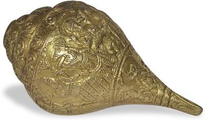 Dakshcraft Handmade Collectibles Decorative Shankh(Gold)