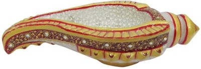 Gaura Art & Crafts Shank Decorative Shankh(Multicolor)