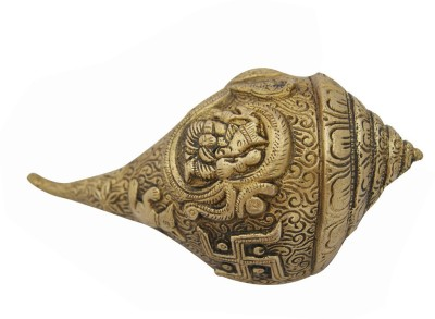 Aaradhi Divya Mantra Shree Om Ganesh Swastika Decorative Shankh