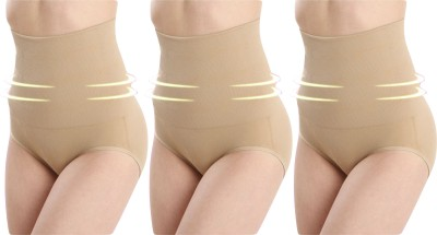 Opulent Seamless High-Waist Mid-Thigh Super Control Tummy Panty Skin Pack Of 3 Womens Shapewear