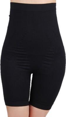 PrivateLifes Black High Waist Mid Thigh Shaper Women's Shapewear
