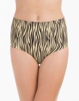 PrettySecrets Beige Zebra High Waist Shaping Womens Shapewear