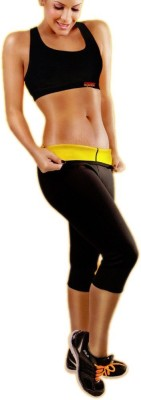 Wonder World ™SWEAT PLUS(+) Hot Shapers™ Power-Knee Pants™ Women's Black Capri at flipkart