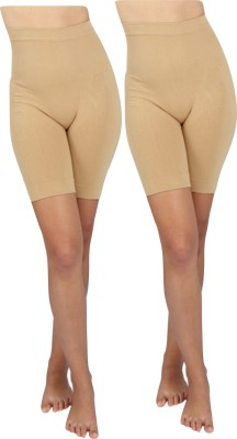 Opulent Seamless High-Waist Mid-Thigh Super Control Tummy Panty Skin Pack Of 2 Womens Shapewear