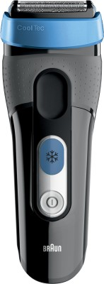 Braun CT2S Cooltec Shaver For Men(Black, Blue)