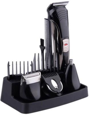 Kemei 7 IN 1--KM-590 7 IN 1--KM-590 Grooming Kit For Men(Black & Sliver)