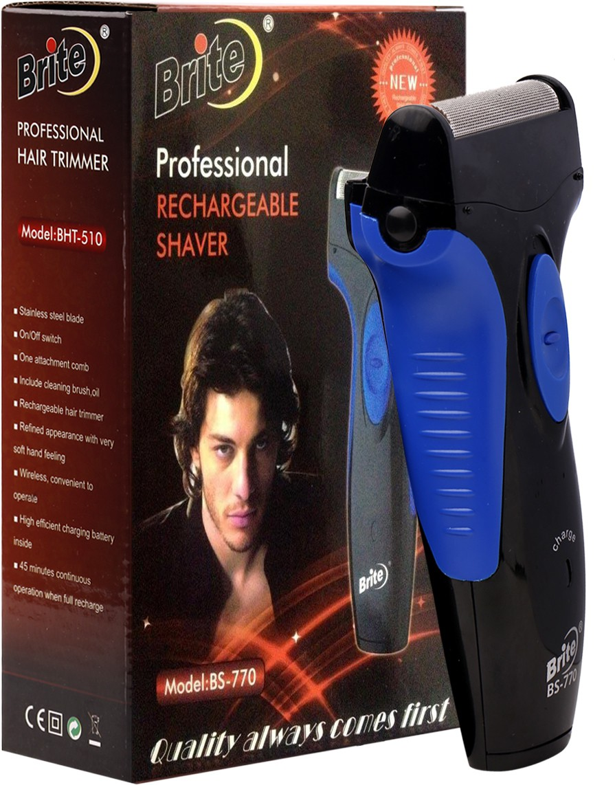 Brite Rachargeable Shaver BS-770 Shaver For Men, Women