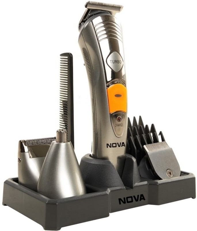 Nova NG 1095 Multi Grooming KIT 7 IN 1 Trimmer For Men(Silver)