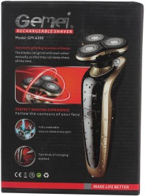 Gemei Rechargeable GM-6300 Shaver For Men