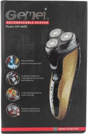 Gemei Rechargeable GM-6600 Shaver For Men