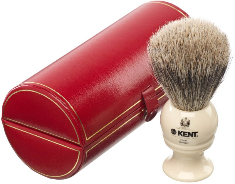 Kent BK4 Premium 100% Pure Silver Tip Badger Hair - Medium Head Shaving Brush