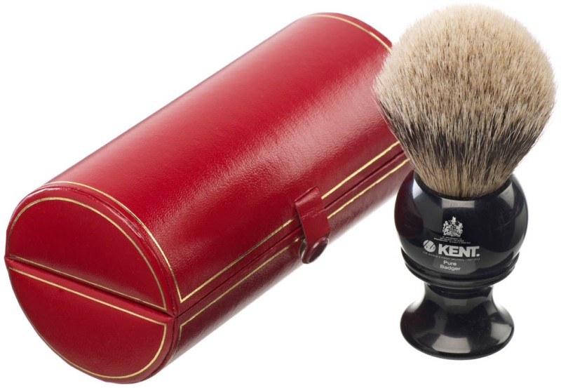 Kent BLK8 Premium 100% Pure Silver Tip Badger Hair - Large Head Shaving Brush