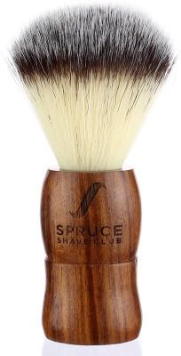 Spruce Shave Club Genuine Wood Shaving Brush - Imitation Badger Hair