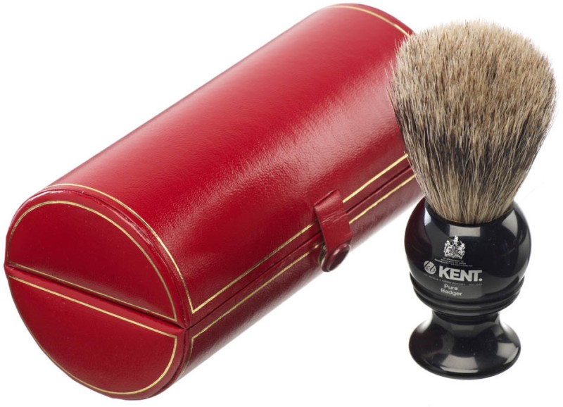 Kent BLK2 Premium 100% Pure Grey Badger Hair - Medium Head Shaving Brush