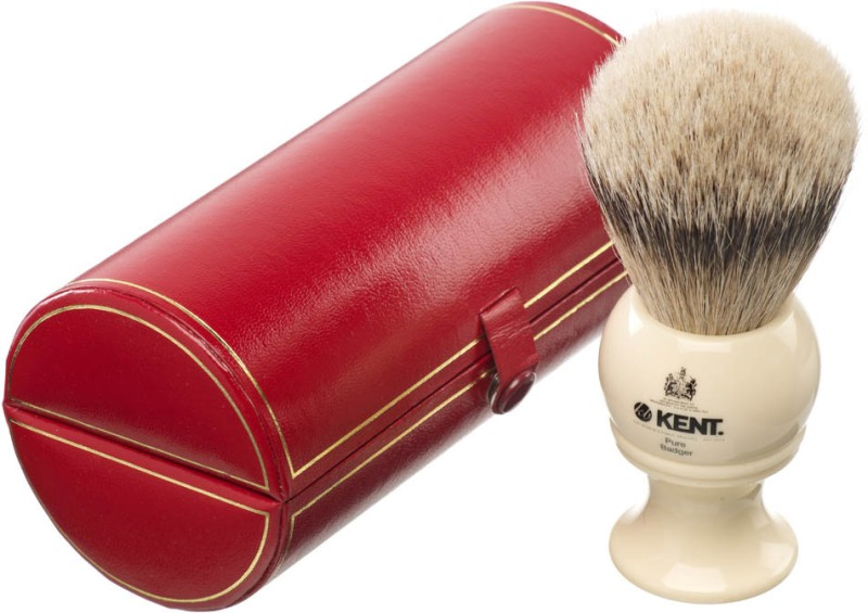 Kent BK8 Premium 100% Pure Silver Tip Badger Hair - Large Head Shaving Brush