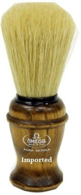 Imported Omega Pura Setola Boar Bristle Ash Wood Handle Shaving Brush