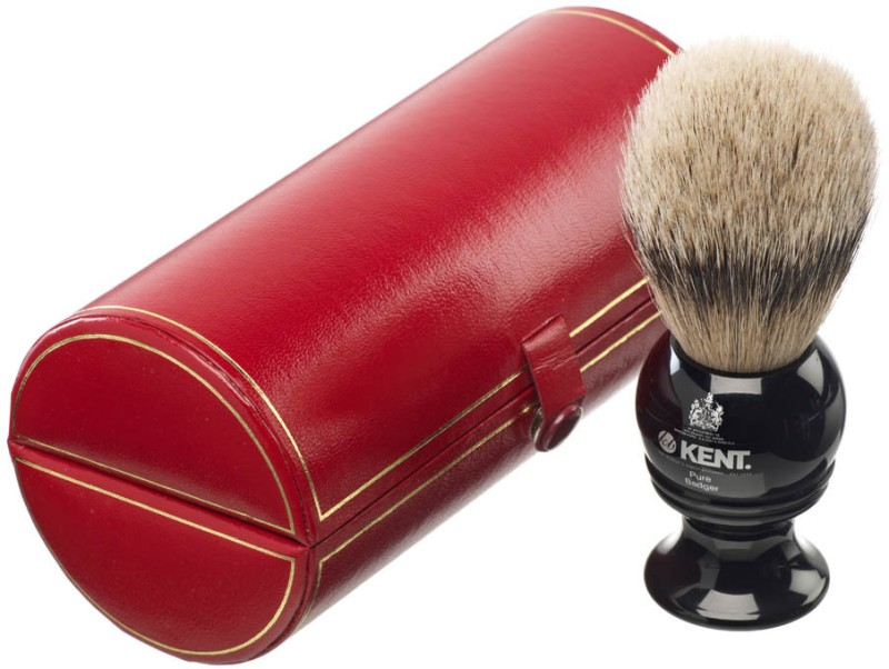 Kent BLK4 Premium 100% Pure Silver Tip Badger Hair - Medium Head Shaving Brush