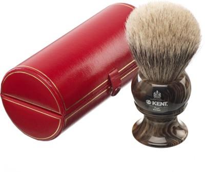 Kent H12 Horn Effect Premium 100% Pure Silver Tip Badger Hair - King Size Head Shaving Brush