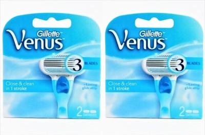 Gillette Venus Close & Clean In 1 Stroke Pack Of 2 (2 Cartridges)(Pack of 2)