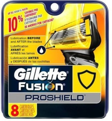 Gillette Fusion Proshield Blade Refills - 8 Cartridges(Pack of 1)