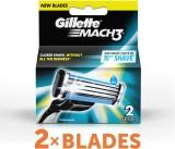 Gillette Mach 3 Cartridges (Pack of 2)