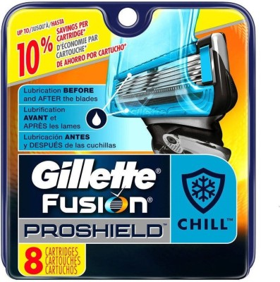 Gillette Fusion Proshield Chill Blade Refills - 8 Cartridges(Pack of 1)