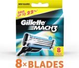 Gillette Mach 3 Cartridges (Pack of 8)