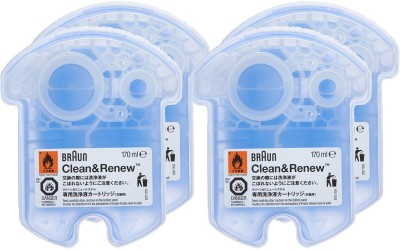 Braun Clean and Renew Cartridge(Pack of 4)